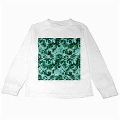 Pattern Factory 23 Teal Kids Long Sleeve T-Shirts