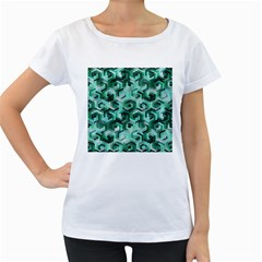 Pattern Factory 23 Teal Women s Loose-Fit T-Shirt (White)