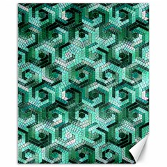 Pattern Factory 23 Teal Canvas 16  x 20