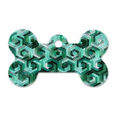 Pattern Factory 23 Teal Dog Tag Bone (Two Sides)