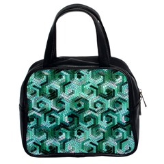 Pattern Factory 23 Teal Classic Handbags (2 Sides)