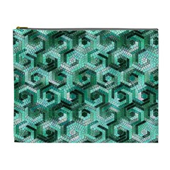 Pattern Factory 23 Teal Cosmetic Bag (XL)