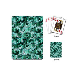Pattern Factory 23 Teal Playing Cards (mini)