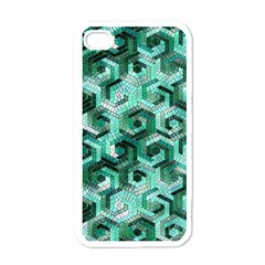 Pattern Factory 23 Teal Apple iPhone 4 Case (White)