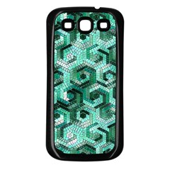 Pattern Factory 23 Teal Samsung Galaxy S3 Back Case (Black)