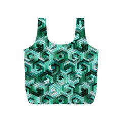Pattern Factory 23 Teal Full Print Recycle Bags (S)