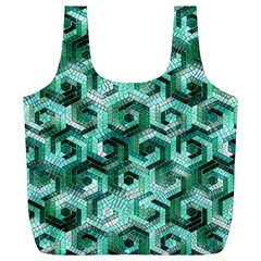 Pattern Factory 23 Teal Full Print Recycle Bags (L)