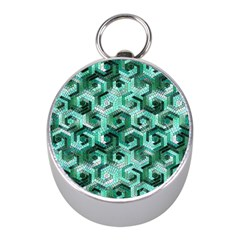 Pattern Factory 23 Teal Mini Silver Compasses