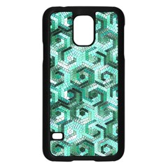 Pattern Factory 23 Teal Samsung Galaxy S5 Case (Black)