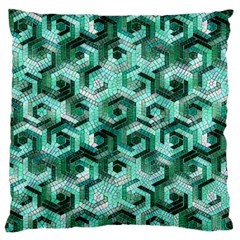 Pattern Factory 23 Teal Large Flano Cushion Case (One Side)