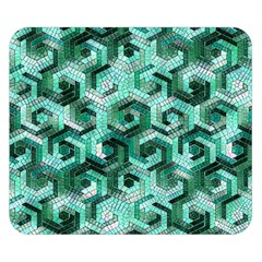 Pattern Factory 23 Teal Double Sided Flano Blanket (Small)