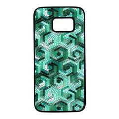 Pattern Factory 23 Teal Samsung Galaxy S7 Black Seamless Case