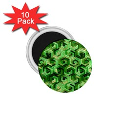 Pattern Factory 23 Green 1 75  Magnets (10 Pack)
