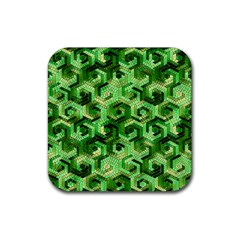 Pattern Factory 23 Green Rubber Coaster (Square)