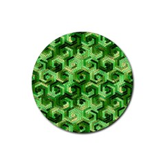 Pattern Factory 23 Green Rubber Round Coaster (4 pack)