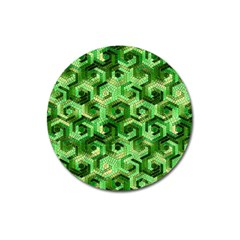 Pattern Factory 23 Green Magnet 3  (Round)
