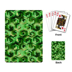 Pattern Factory 23 Green Playing Card