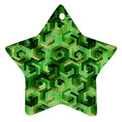 Pattern Factory 23 Green Star Ornament (Two Sides)