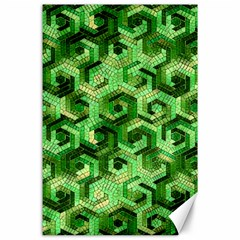 Pattern Factory 23 Green Canvas 24  x 36
