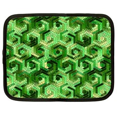 Pattern Factory 23 Green Netbook Case (Large)