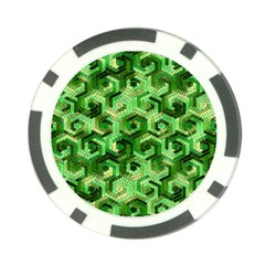 Pattern Factory 23 Green Poker Chip Card Guard (10 pack)