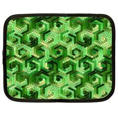 Pattern Factory 23 Green Netbook Case (XL)
