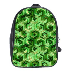 Pattern Factory 23 Green School Bags(Large)