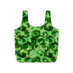 Pattern Factory 23 Green Full Print Recycle Bags (S)