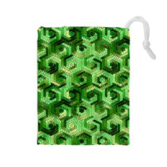 Pattern Factory 23 Green Drawstring Pouches (Large)