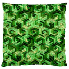 Pattern Factory 23 Green Standard Flano Cushion Case (One Side)