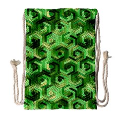 Pattern Factory 23 Green Drawstring Bag (Large)