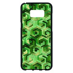 Pattern Factory 23 Green Samsung Galaxy S8 Plus Black Seamless Case