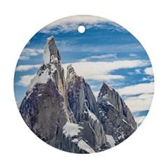 Cerro Torre Parque Nacional Los Glaciares  Argentina Ornament (Round)