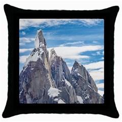 Cerro Torre Parque Nacional Los Glaciares  Argentina Throw Pillow Case (Black)