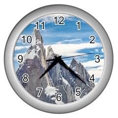 Cerro Torre Parque Nacional Los Glaciares  Argentina Wall Clocks (Silver)
