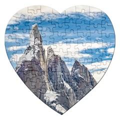 Cerro Torre Parque Nacional Los Glaciares  Argentina Jigsaw Puzzle (Heart)