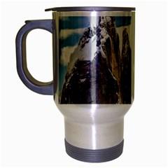 Cerro Torre Parque Nacional Los Glaciares  Argentina Travel Mug (Silver Gray)