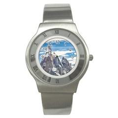 Cerro Torre Parque Nacional Los Glaciares  Argentina Stainless Steel Watch
