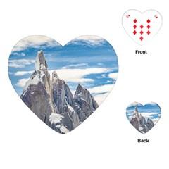 Cerro Torre Parque Nacional Los Glaciares  Argentina Playing Cards (Heart)