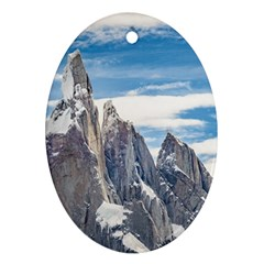 Cerro Torre Parque Nacional Los Glaciares  Argentina Oval Ornament (Two Sides)
