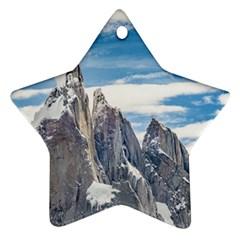 Cerro Torre Parque Nacional Los Glaciares  Argentina Star Ornament (Two Sides)