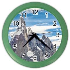 Cerro Torre Parque Nacional Los Glaciares  Argentina Color Wall Clocks