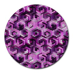 Pattern Factory 23 Pink Round Mousepads