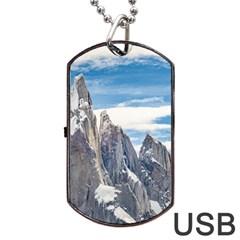 Cerro Torre Parque Nacional Los Glaciares  Argentina Dog Tag USB Flash (One Side)