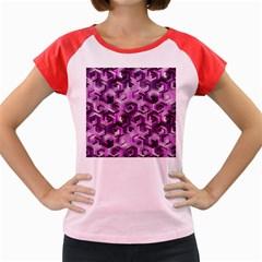 Pattern Factory 23 Pink Women s Cap Sleeve T-Shirt