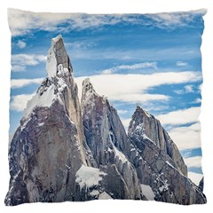 Cerro Torre Parque Nacional Los Glaciares  Argentina Large Cushion Case (One Side)