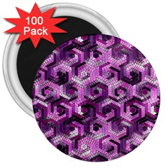 Pattern Factory 23 Pink 3  Magnets (100 pack)
