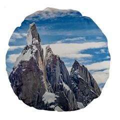 Cerro Torre Parque Nacional Los Glaciares  Argentina Large 18  Premium Round Cushions