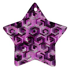 Pattern Factory 23 Pink Star Ornament (Two Sides)