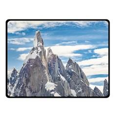 Cerro Torre Parque Nacional Los Glaciares  Argentina Double Sided Fleece Blanket (Small)